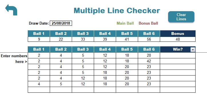uk lotto multiple line checker